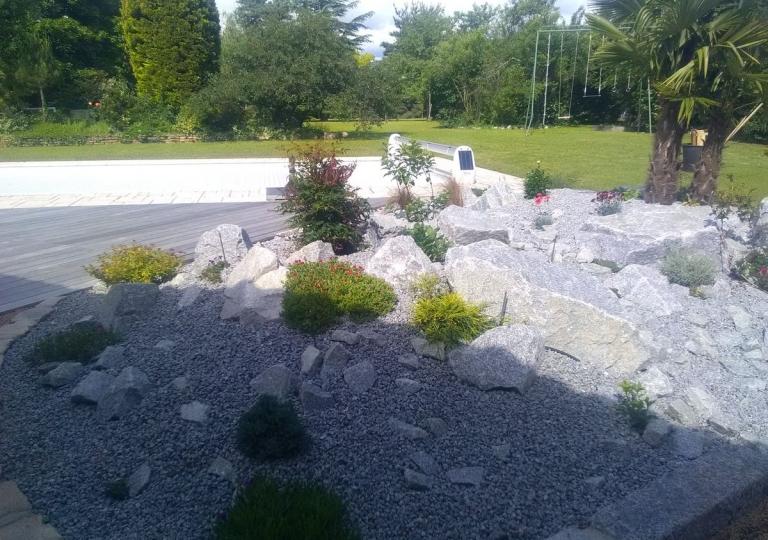 Création d'un jardin sec à Montbrison